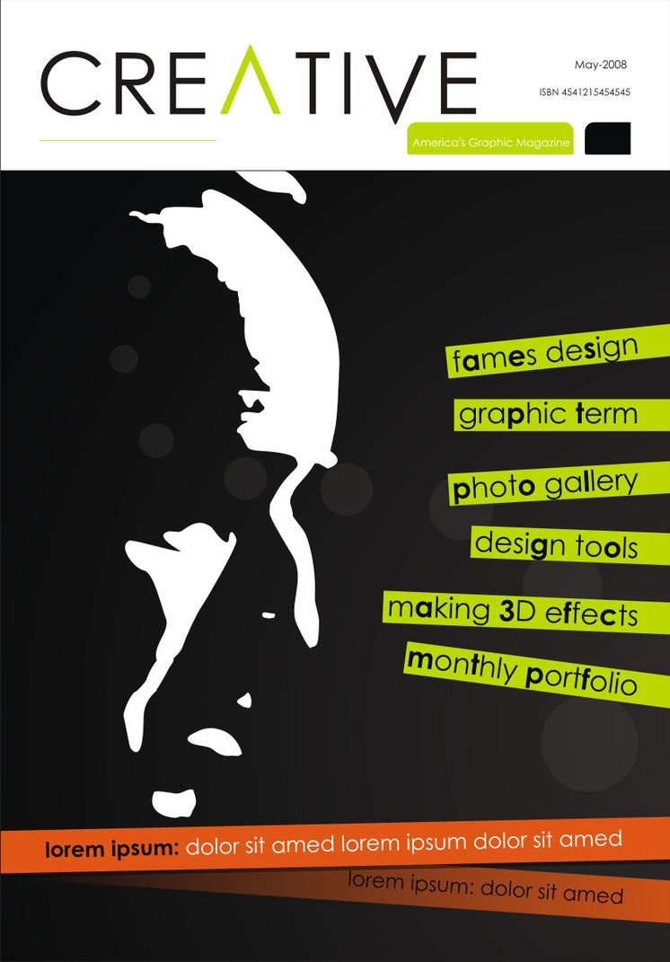 Creative Magazine Cover By Abaq On Deviantart Magazine Cover Cover Design Inspiration Typography Magazine