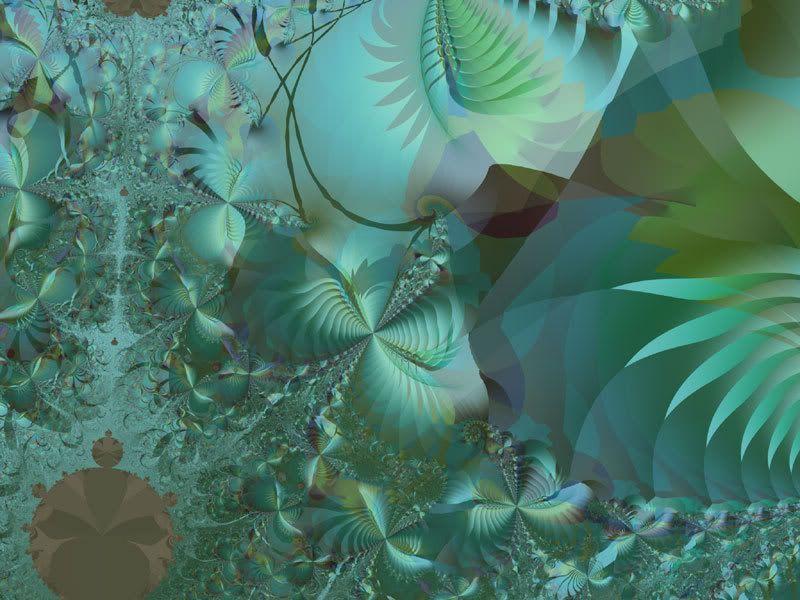 Abstract Jungle Wallpaper