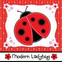 Modern Ladybug - Personalized Baby Shower Water Bottle Label Favors | BigDotOfHappiness.com