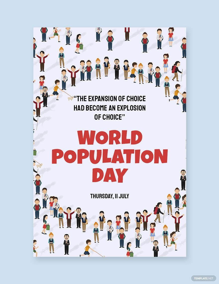 Free world population day pinterest pin template in 2020