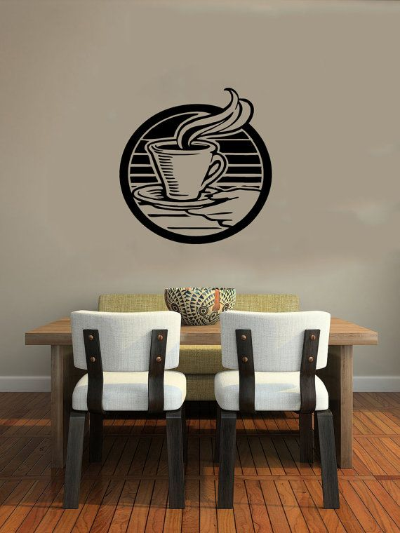 Cup of Coffee Smoke Housewares Wall Vinyl Decal Art Murals Design ...