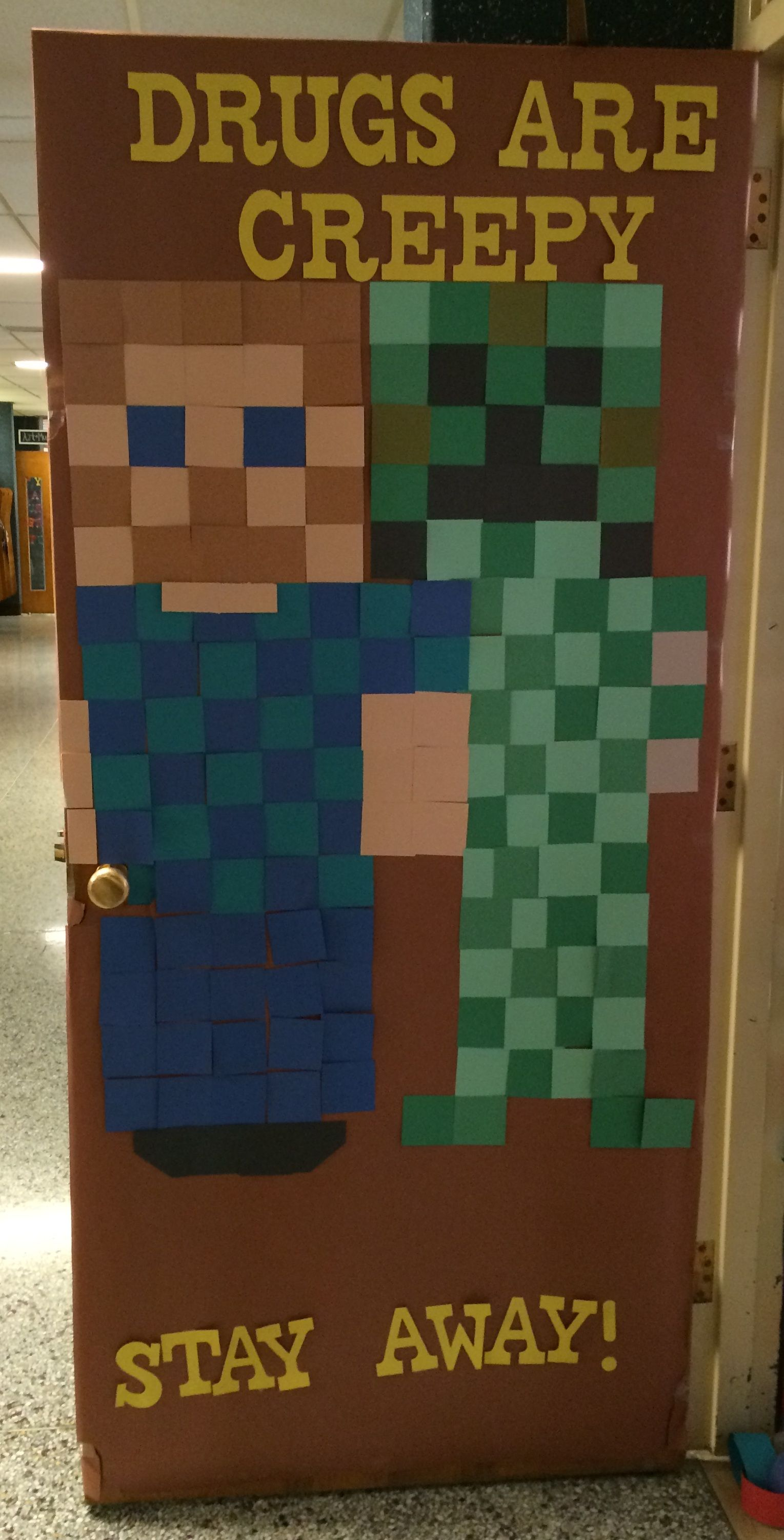 Minecraft Red Ribbon Door Decorations | Red Ribbon Week ...