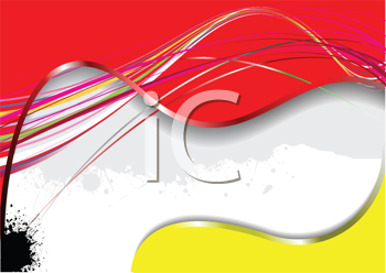 Iclipart royalty free clipart image of an abstract red white and yellow band background with  black blob in the bottom corner also rh ar pinterest