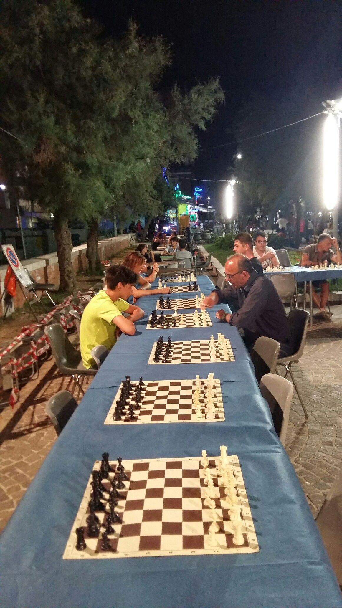 Pesaro Italy lungomare torneo  di scacchi
