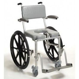 Multichair Manual Commode Shower Wheelchair With 20 Quick Release Wheels 1800wheelchair Com Shower Wheelchair Wheelchair Commode