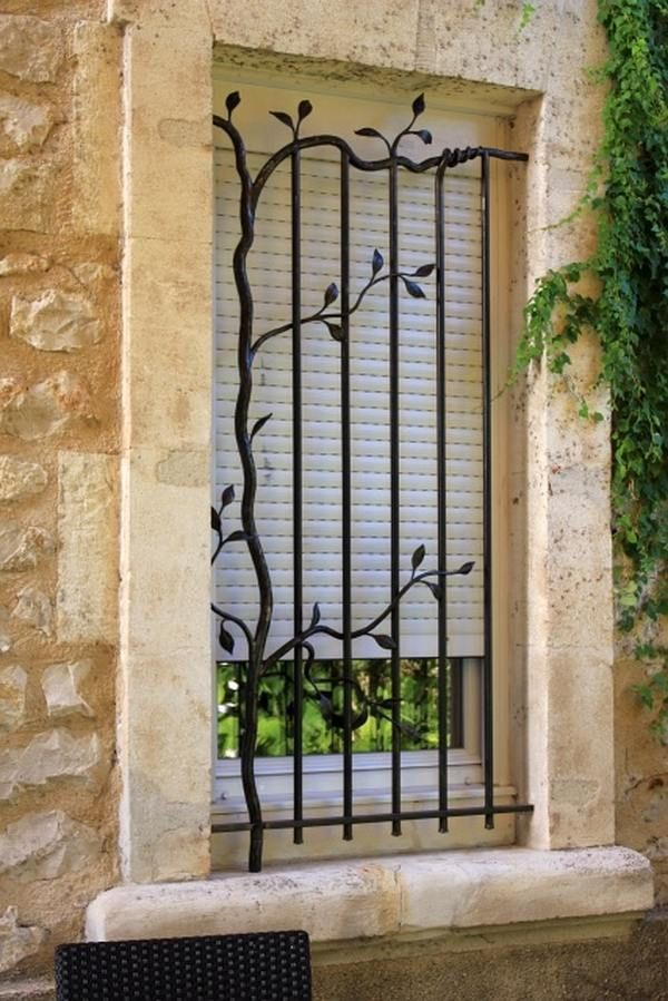 Burglar bars for windows security bars artistic design for Iron window design house