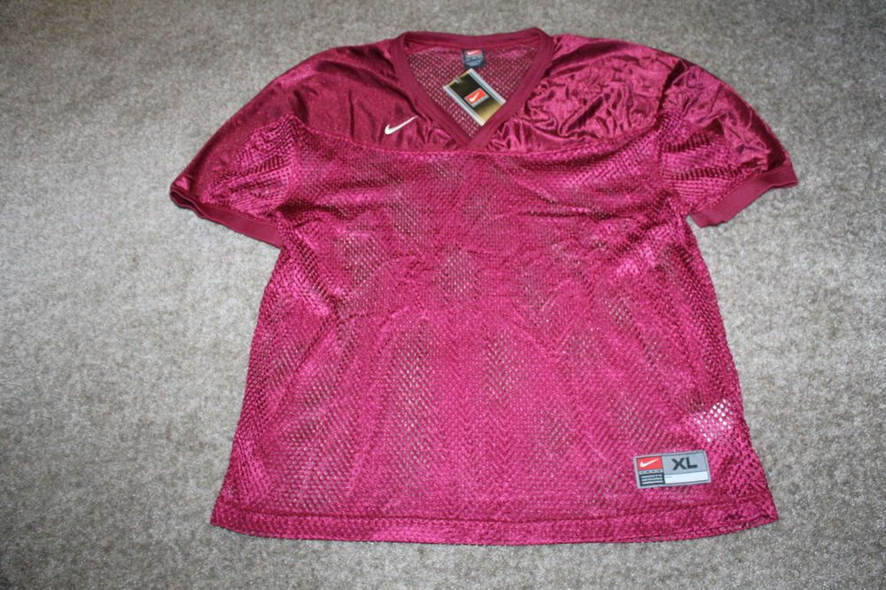 NWT Nike Mes Mesh Football Game Practice Jersey Maroon Size X Large #Nike