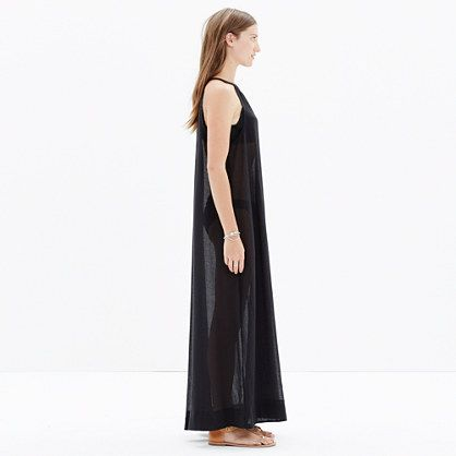 Sandcastle Cover-Up in True Black : swim & cover-ups   Madewell