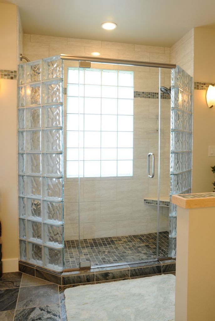 How to Create a Luxury Glass Block Shower with a Frameless Glass ...