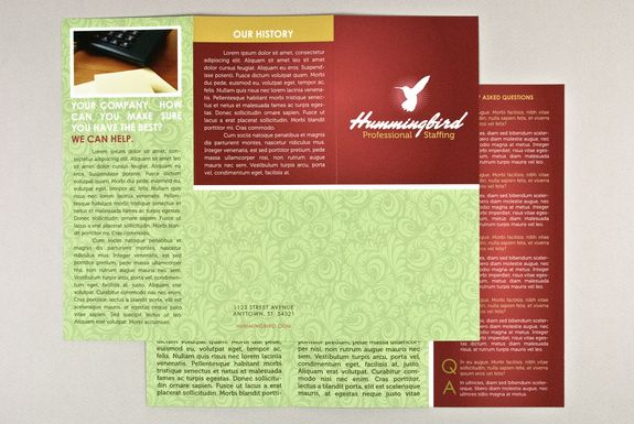 General Business Brochure Template Sample Inkd Print Templates