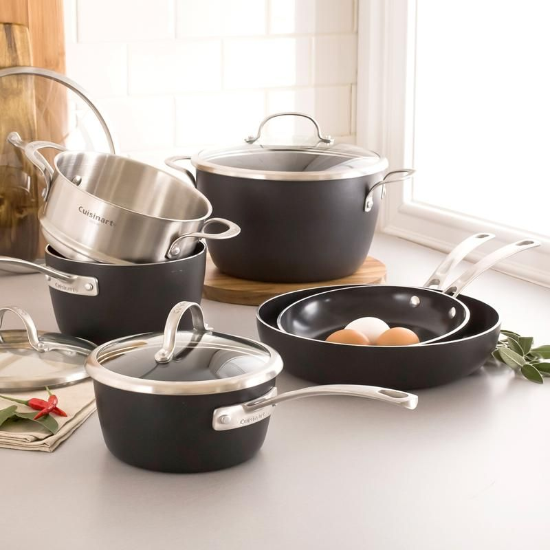 Cuisinart Greenware Non-Stick Cookware - Set of 10 | Pots