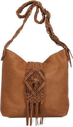 0ee9c82f1 ShopStyle: Lucky Brand Handbag, Macrame Fringe Crossbody Sling ...