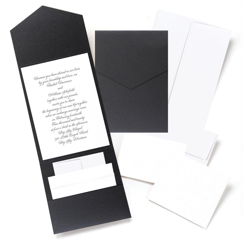 Black Shimmer Pocket Invitation Kit | Wedding Invitation | Pinterest ...