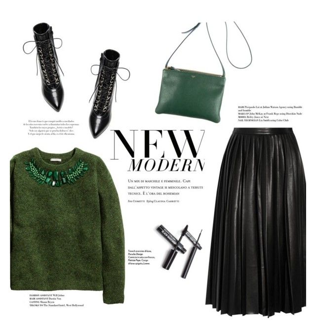 """""""#299"""" by lily1lol ❤ liked on Polyvore featuring H&M, By Malene Birger, Yves Saint Laurent and CÉLINE"""