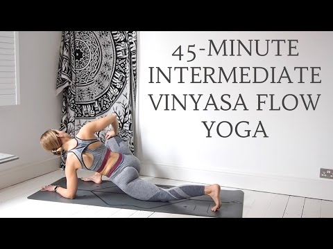 45minute dynamic yoga flow  intermediate level  cat