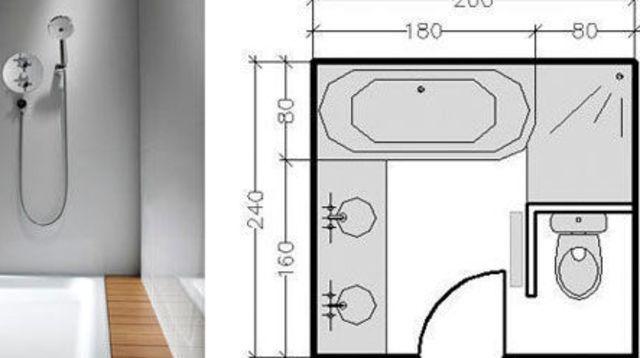 Plan de salle de bains de 5 à 11 m²  conseils d\u0027architecte et plans - Plan Maison En Longueur
