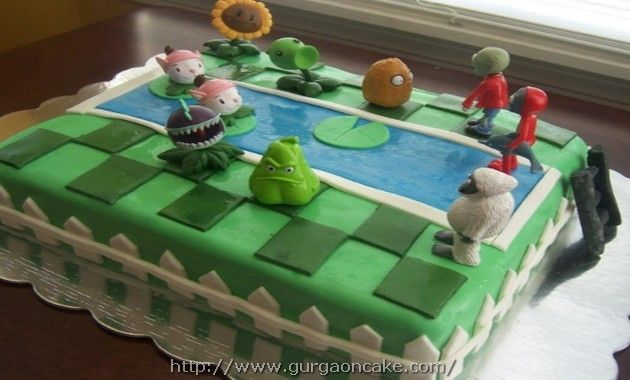 plants vs zombies birthday cake toppers Birthday Cake Pinterest