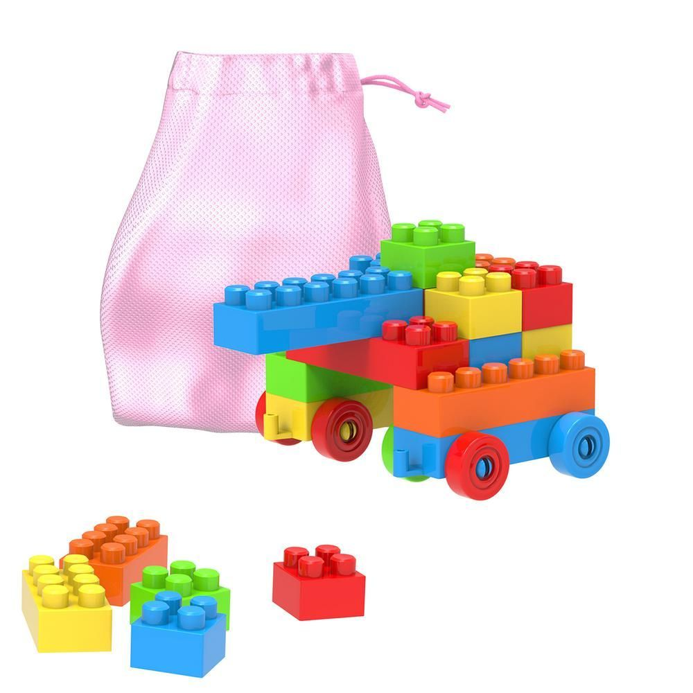 Hey! Play! Building Blocks-Classic 90-Piece Set with ...