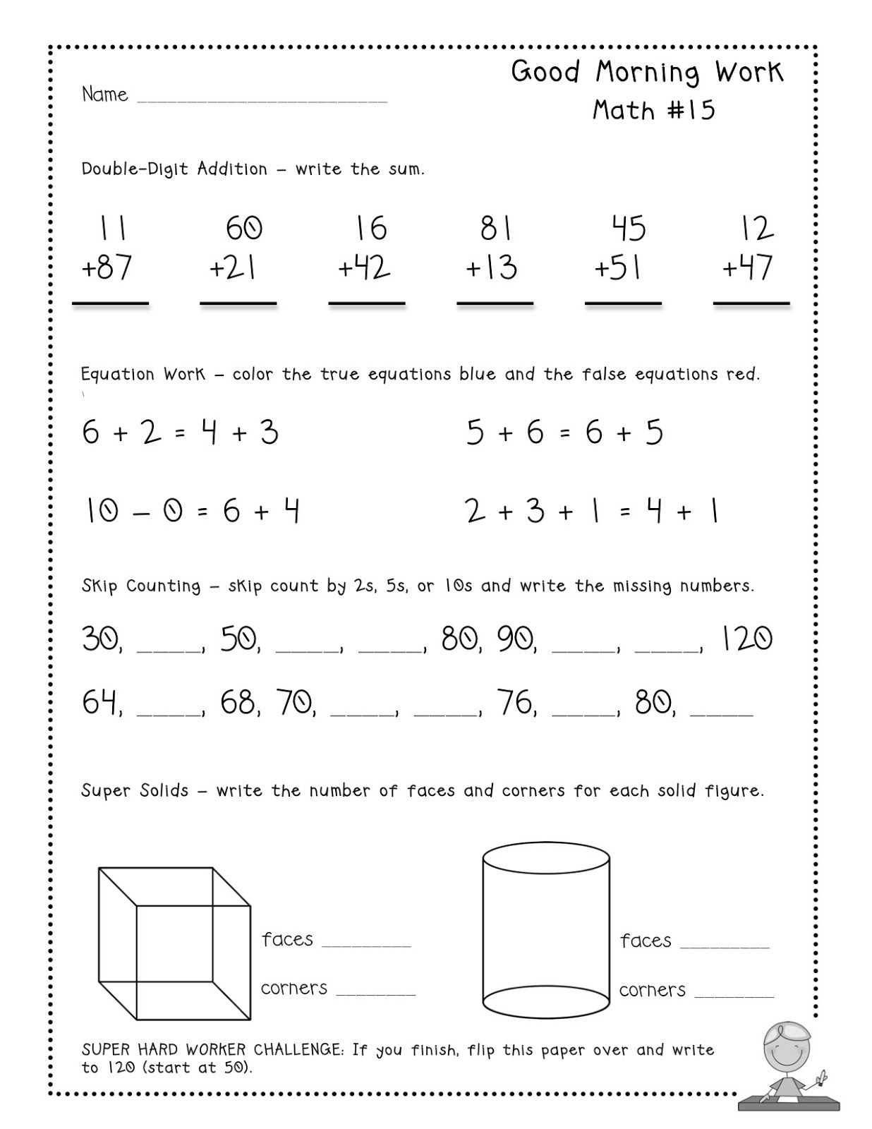 Worksheets Math Warm Up Worksheets free good morning work tester pages common core aligned daily math warm ups