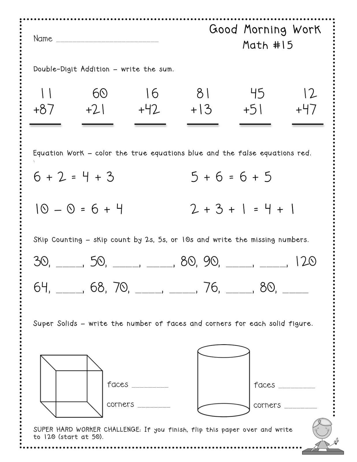 Teacher Idea Factory: MAY GOOD MORNING WORK + FREEBIE   Daily math [ 1600 x 1236 Pixel ]