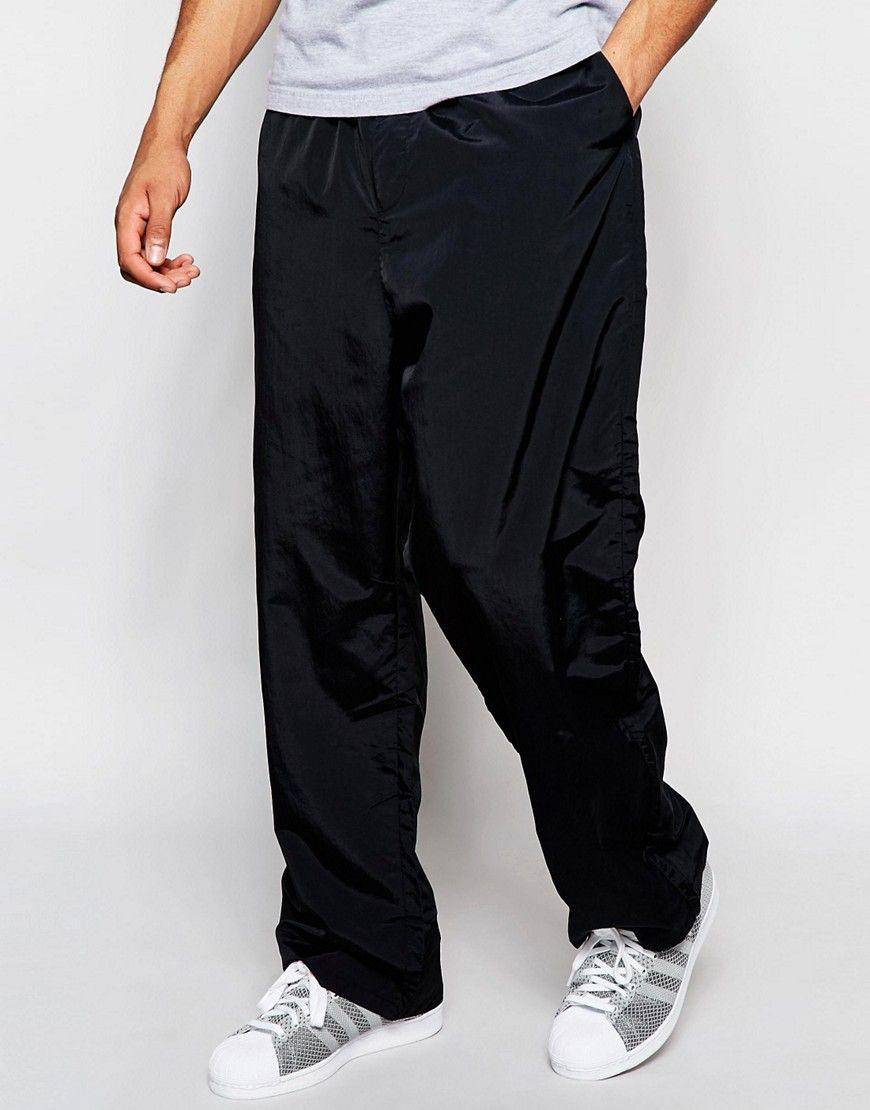 Super cool Weekday Drawstring Trousers Airwalk Nylon - Black Weekday Bukser & Chinos til Herrer i dejlige materialer