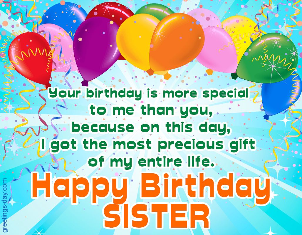 Happy Birthday Sister Free Ecards Pictures GIFs http – Free Ecard Birthday Greetings