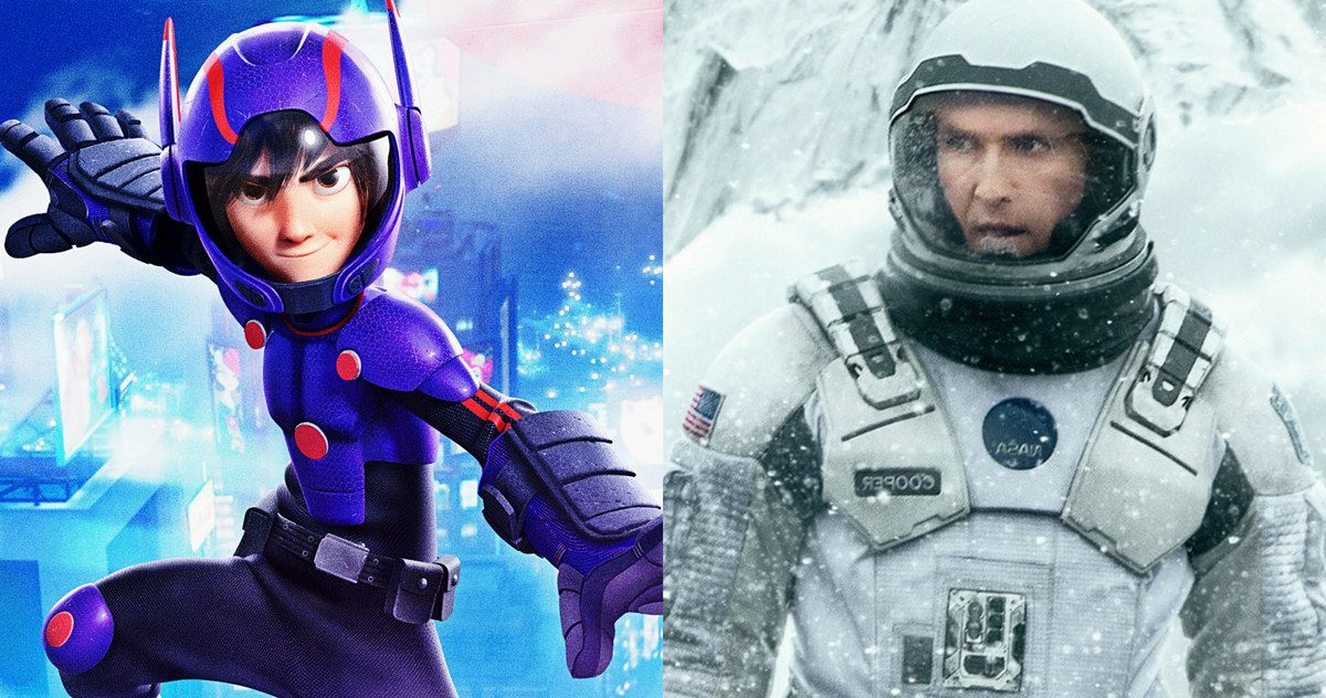 BOX OFFICE PREDICTIONS: 'Big Hero 6' Takes on 'Interstellar' -- Christopher Nolan's 'Interstellar' squares off with Disney's 'Big Hero 6' in a major box office showdown. Who will come out on top? -- http://www.movieweb.com/box-office-interstellar-movie-big-hero-6