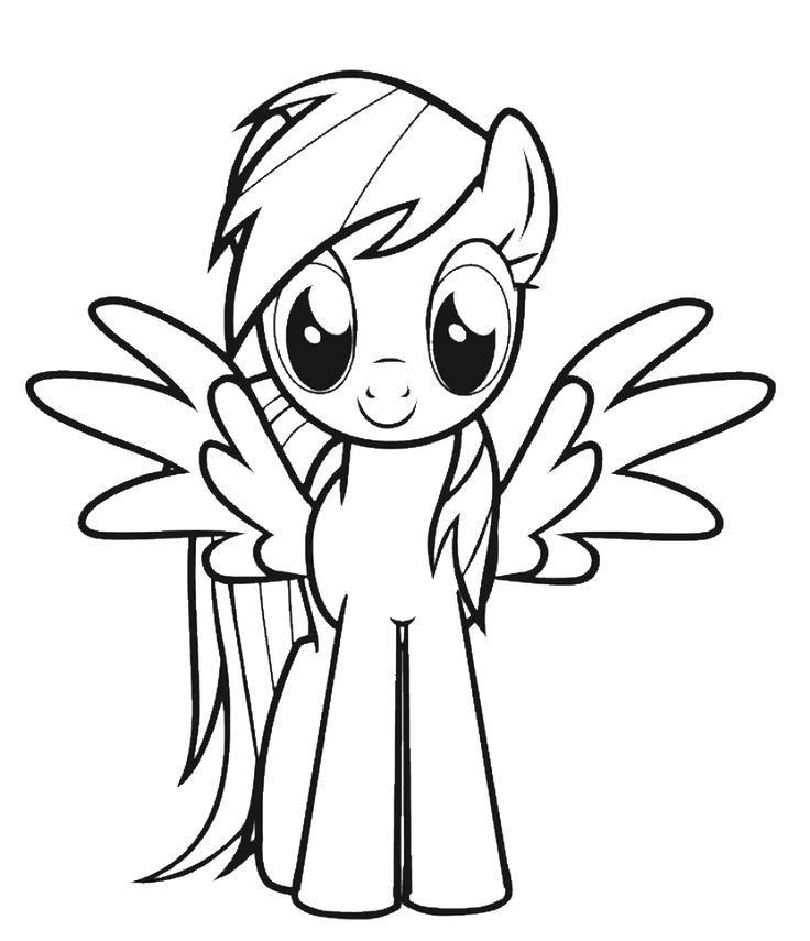 Coloring Pages Of Rainbow Dash Cartoon coloring pages