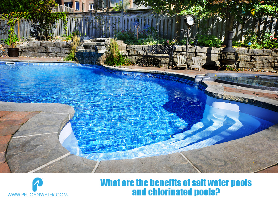 Top Pros Cons Of Salt Water Pools Chlorinated Pools In 2020 Backyard Pool Saltwater Pool Pool Waterfall