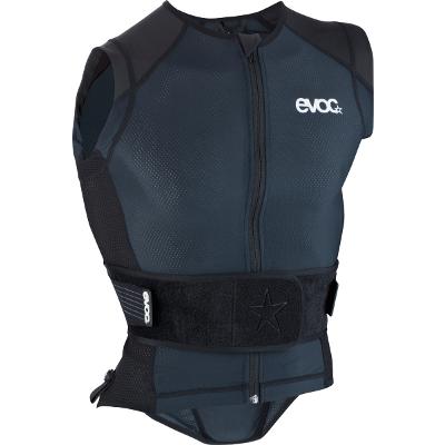 Protektor Weste Air+ Black 2013: die Evoc Protector Vest Air+ ein sehr leichter, komfortabler und atmungsaktiver Rückenprotektor mit zusätzlichem Schulter- und Hüftschutz. Dieser Protektor lässt sich perfekt unter der Jacke tragen ohne aufzufallen oder zu stören.