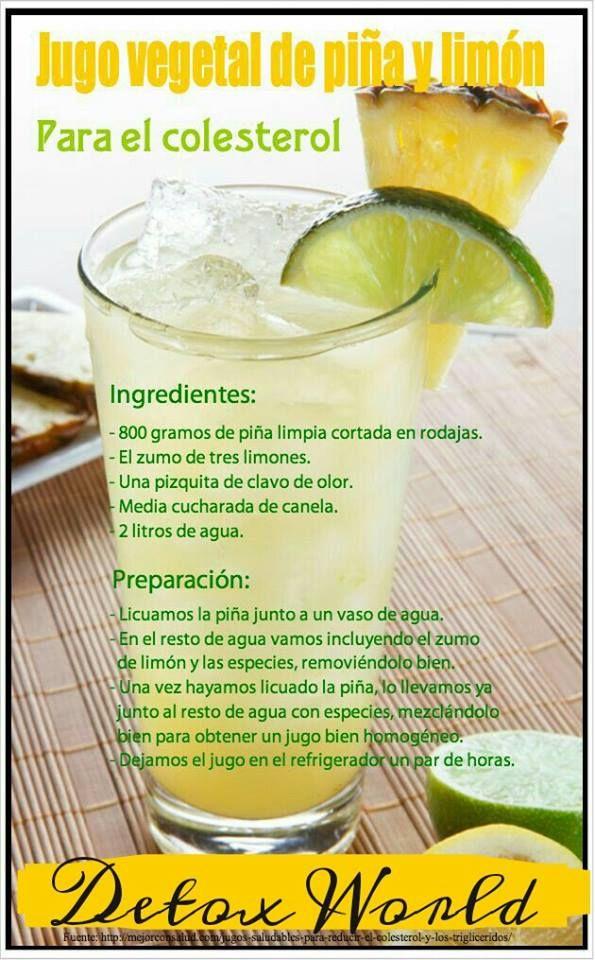 Zumo de piña y limón