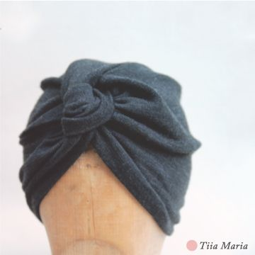 Gray woollen turban hat. Tiia Maria Fall 2013.