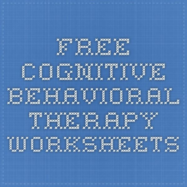 free cognitive behavioral therapy worksheets Work – Free Cbt Worksheets