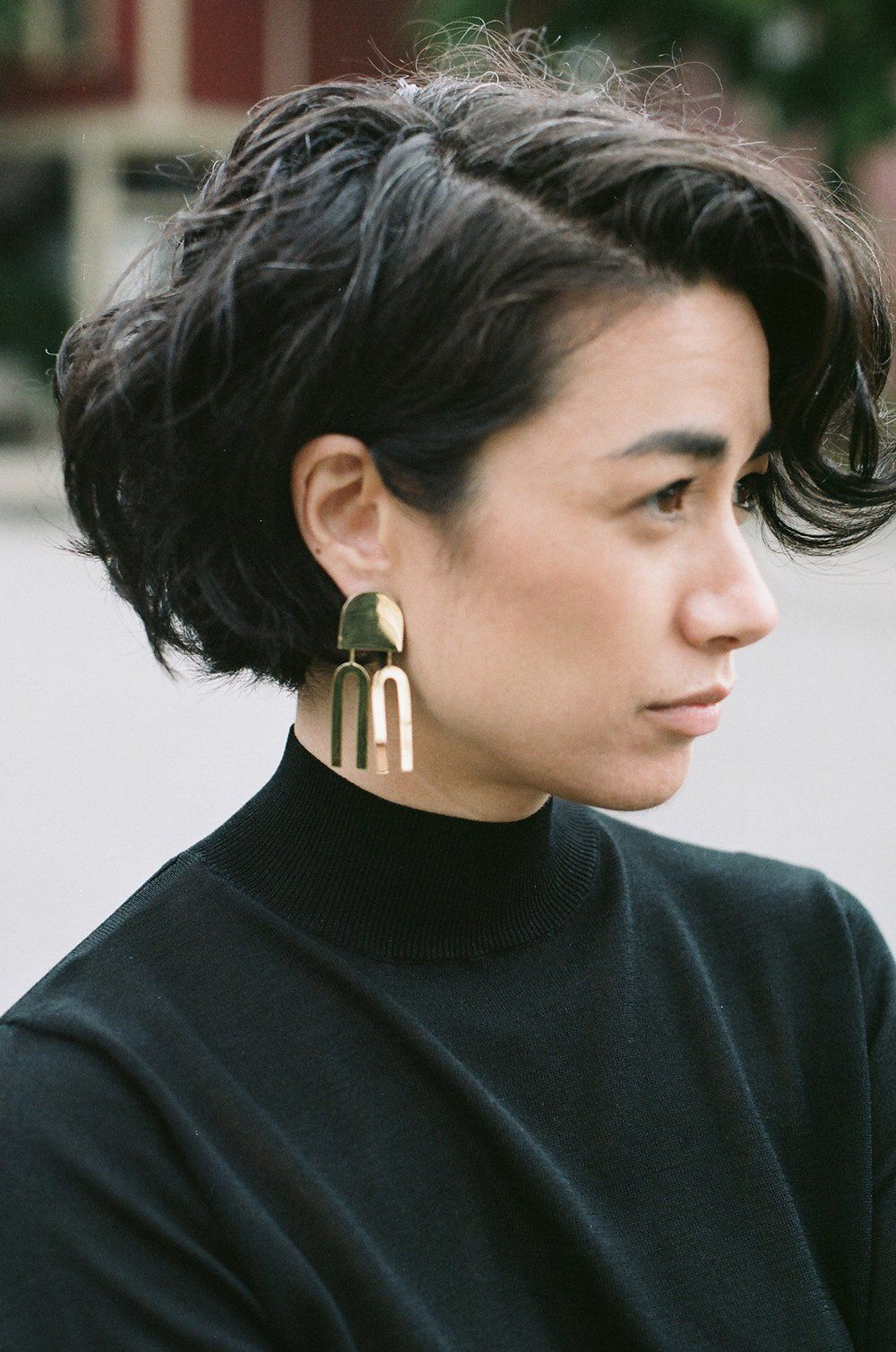 Contemporary 9ct Gold Earrings