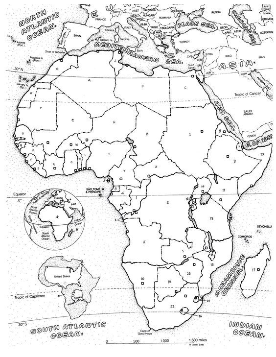 Free coloring page coloring-adult-africa-map. The map of
