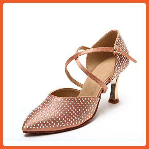 Miyoopark Ks128 Women S Sparkle Closed Toe Satin Latin Salsa Ballroom Wedding Shoes 5 Us