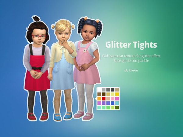 kliekie's Glitter Tights for Toddlers Sims 4 contenu
