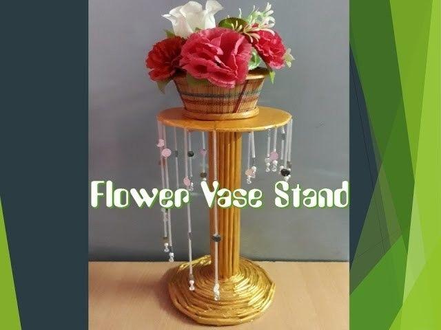 Flower Vase Stand Newspaper Crafts Pinterest Newspaper Crafts