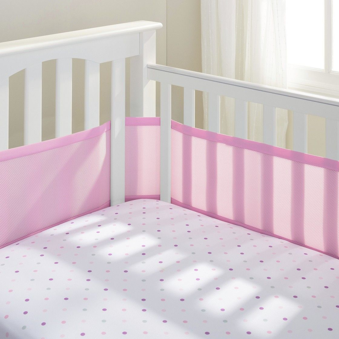 Breathable mesh crib liner by breathable baby fresh bloom
