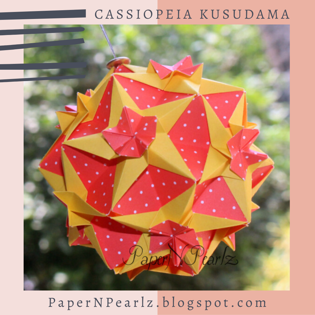Absolutely love this #origami #Cassiopeia #Kusudama. Had made as a gift for my mom 😍   #modular #polkadot #origamipaper #paperfolding #origamilove #papernpearlz #origamiart #origamiindia #creativediy