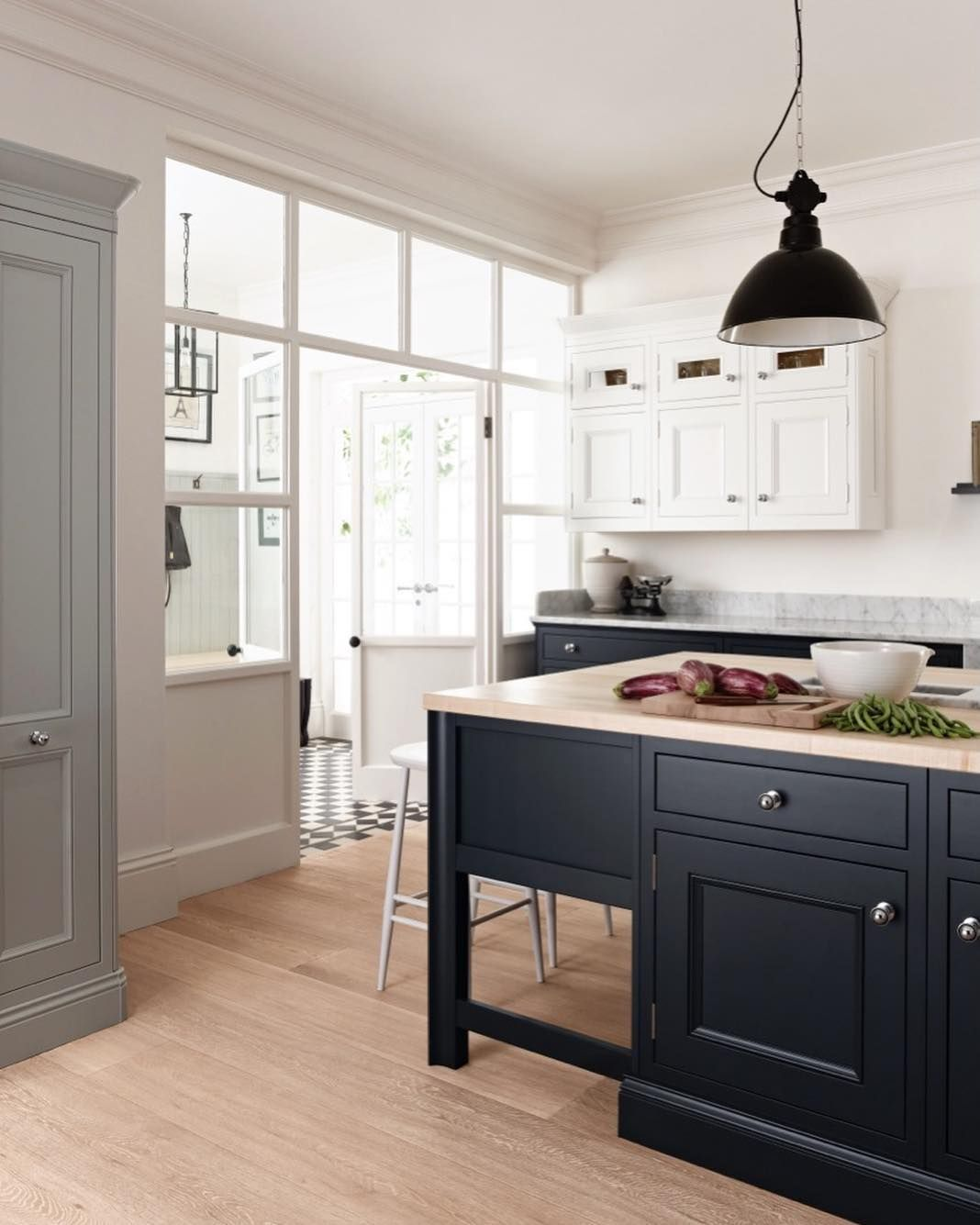 Trying To Pick A Colour To Accompany Natural Wood Tones In Your Kitchen We Love This Combination Of A Bol 1909 Kitchens Kitchen Fittings Kitchen Quarter Round