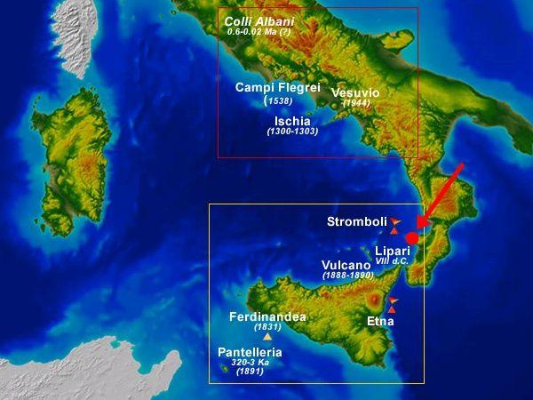 Scoperto un nuovo vulcano italiano il numero dei vulcani for Numero dei parlamentari in italia