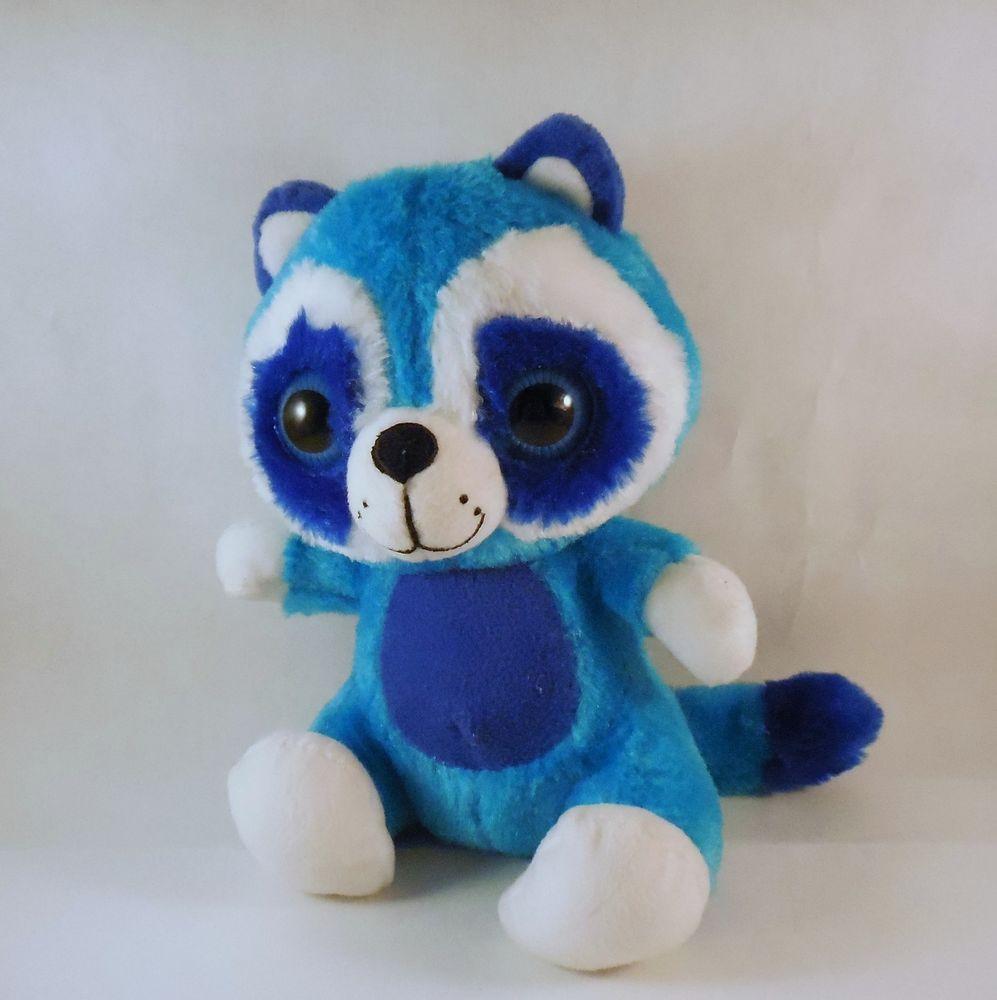 Bright Eyes Blue Raccoon, Peek a Boo Toys, 7.5\