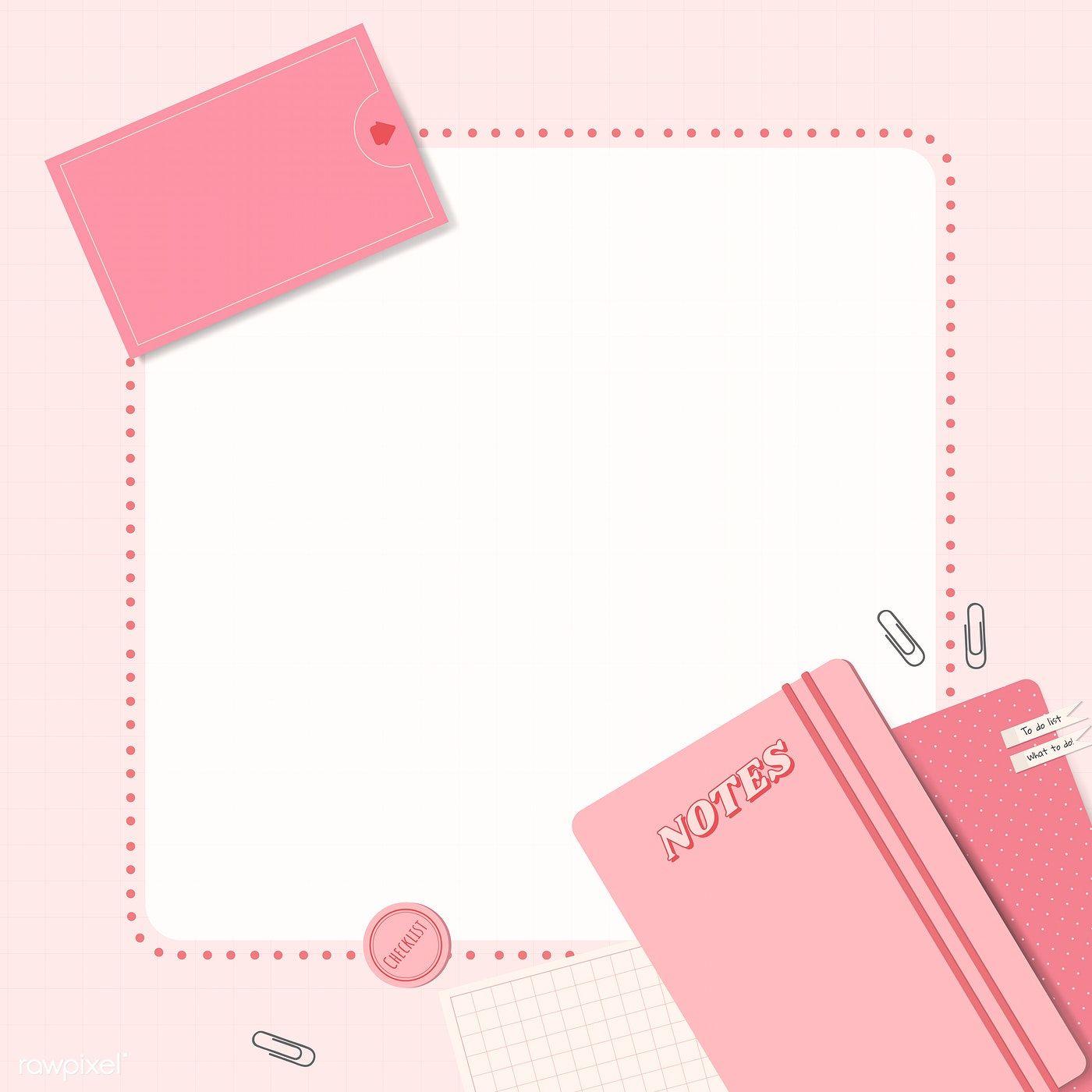 Download Premium Vector Of Pink Notepad Planner Set Vector 1209431 Pink Notepad Planner Notepad Planner Set