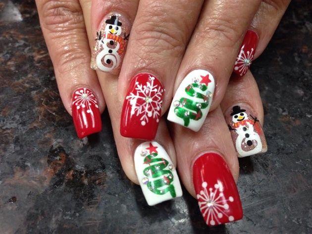 Christmas nails новорічний манікюр