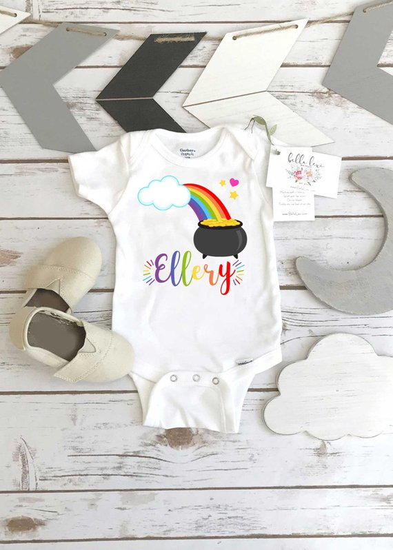 Rainbow Birthday First Shirt Party 1st Girl