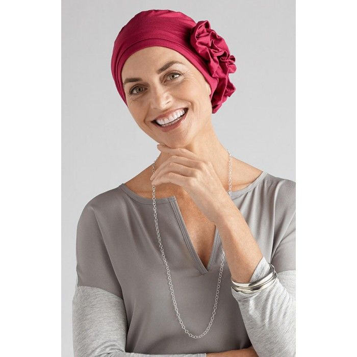 A Stylish Lady Bonnet Chimio et Turban Cancer en Coton Baies Rouges 509074c1c87d