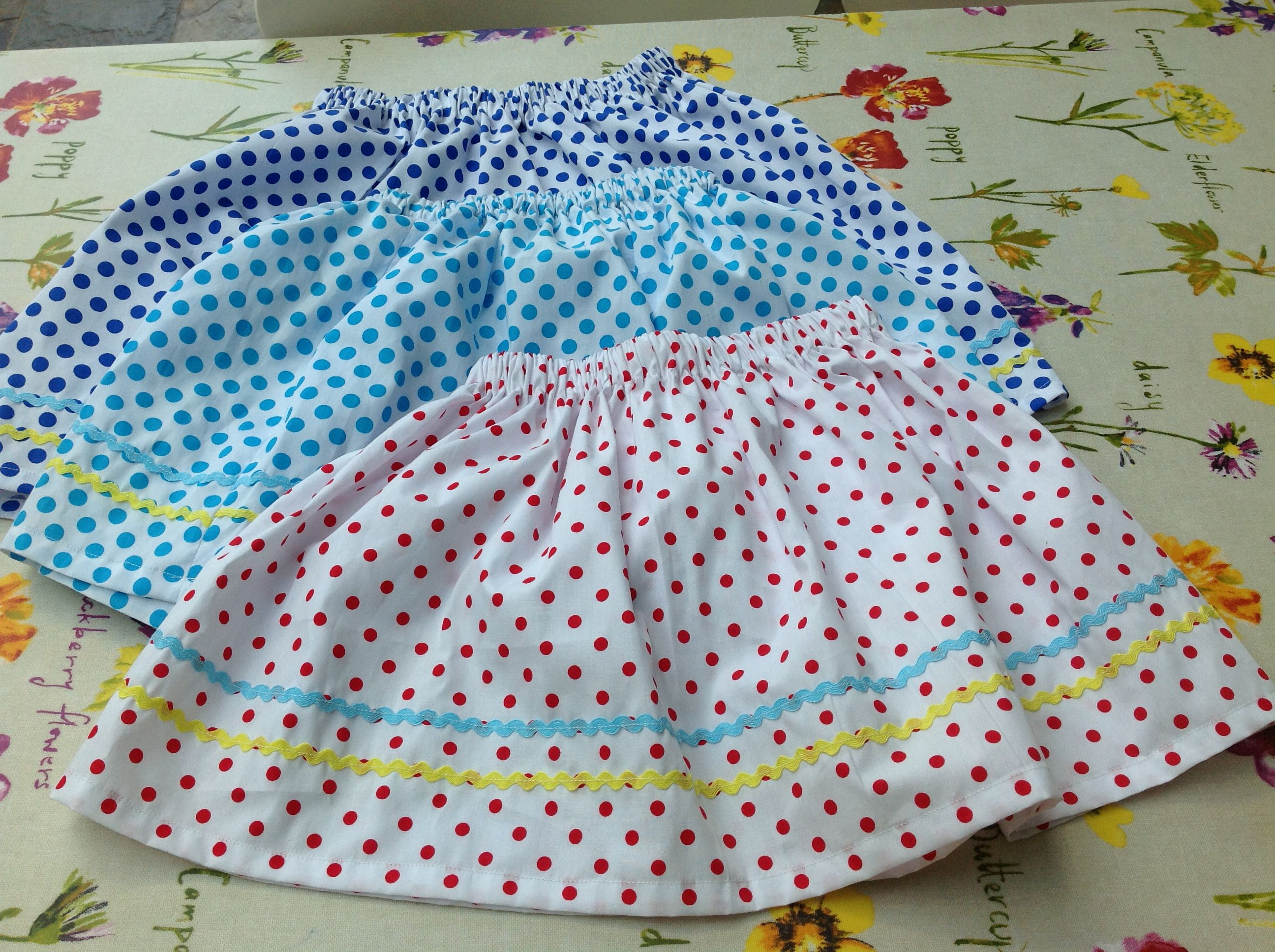 Holiday skirts for 3 friends