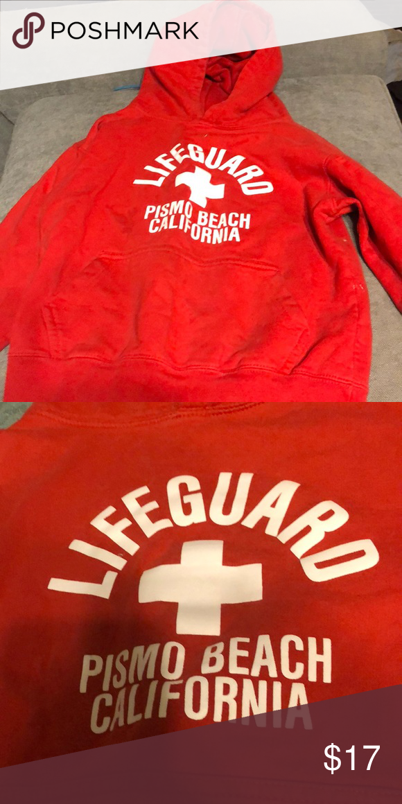645d814ca55c Red piano beach life guard sweater Cute and comfortable Tops Sweatshirts    Hoodies