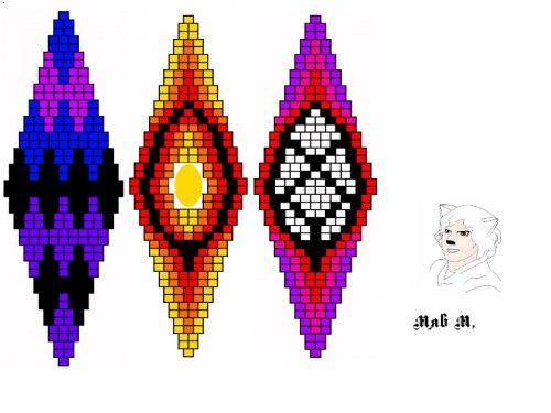 Разные орнаменты серьги кирпичное плетения. Есть новая идея 20 Июня..   biser.info - всё о бисере и бисерном творчестве